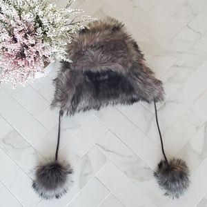 INDIGO Faux Fur Trapper Hat